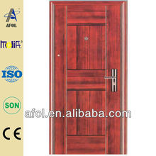 AFOL latest design red security steel door for residential