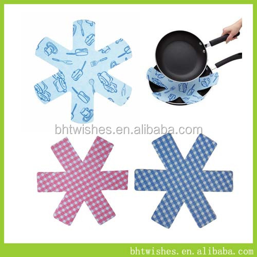 best supplied hot resistant non slip pan felt table protector,pan mat