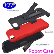 3 in 1 cell phone Robot Combo protective PC + Silicon cover Belt Clip holster kickstand case for Alcatel Stellar tru 5065N