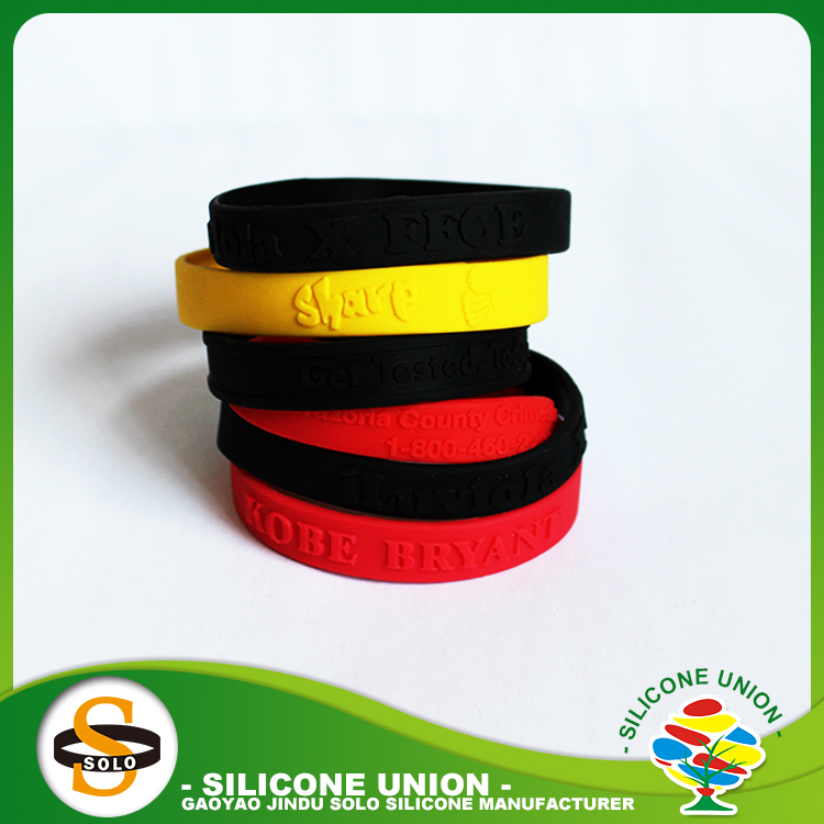 Wrist band sport silicone wristbands personalized wholesales