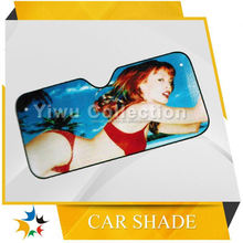 advertising sunshade windows car,costom made car sunshade curtain,pe alu foil car sunshade