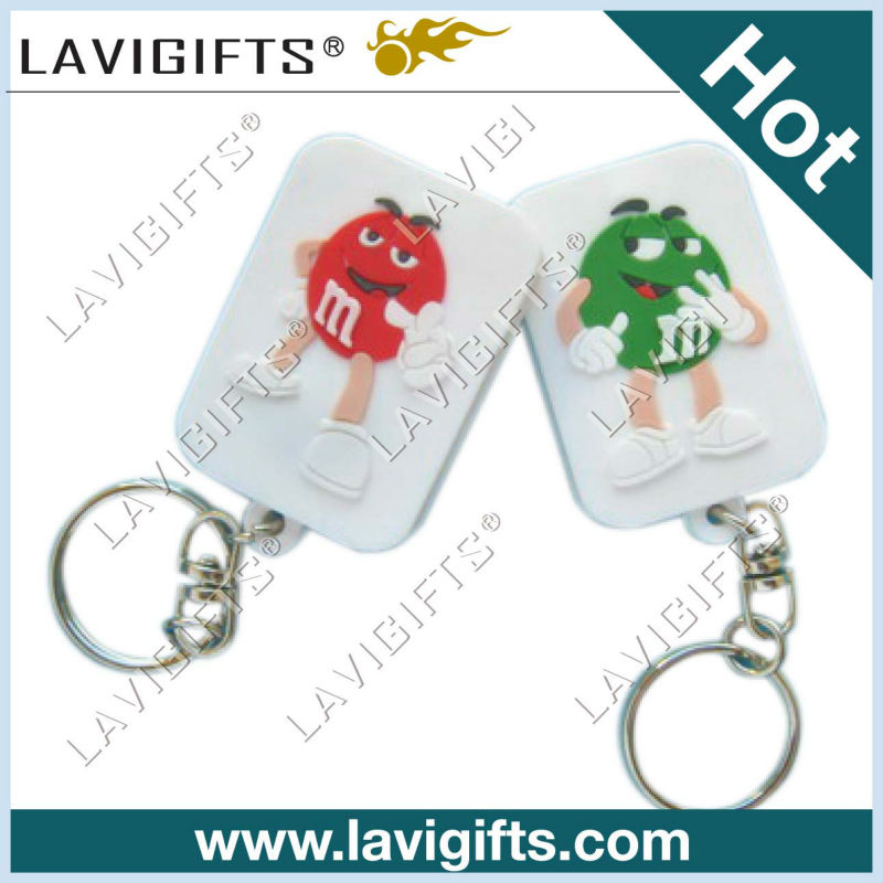 2013 Factory direct sales keychain business gift for PVC keychain