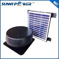 Eco-friendly 30w round fan with solar energy