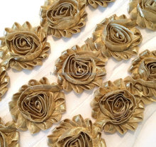 GOLD Metallic Shiny Shabby Rose Trim