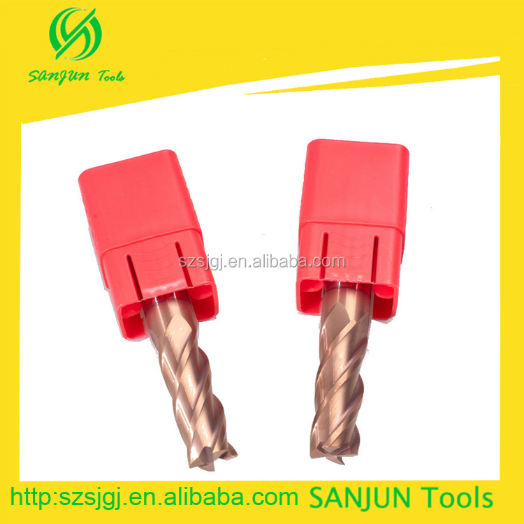 16mm Carbide End Mill Types Industrial Milling Cutter For CNC Machine