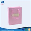 Design paper fashion pink t shirt packaging bag