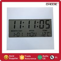 Promotional mini lcd display calendar lcd desk clock