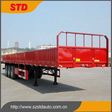 Heavy duty tri-axle cargo fence flatbed trailer