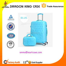 cheap ABS+PC trolley luggage and make up case set