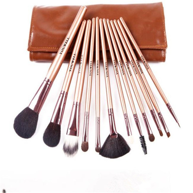 12pcs animal hair makeup brushes maquillaje private label wholesale cosmetics