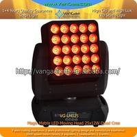 New disco display numbers, letters, graphic effects or images light RGBW 4in1 5*5 25 eyes led matrix moving head light