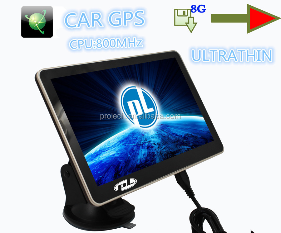 7 inch slim gps navigation 84h-3 touch screen gps satellite mtk gps navigation