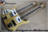 china made shengque ricken double neck bass and guitar
