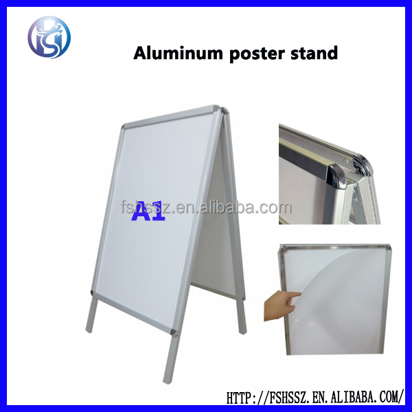 Floor display aluminum poster board frame for advertising HS-H32