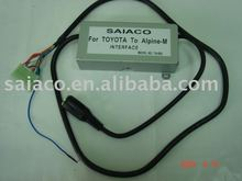 SAIACO car changer interface/adapter for TOYOTA original head unit/radio to Alpine 6disc CD Changer