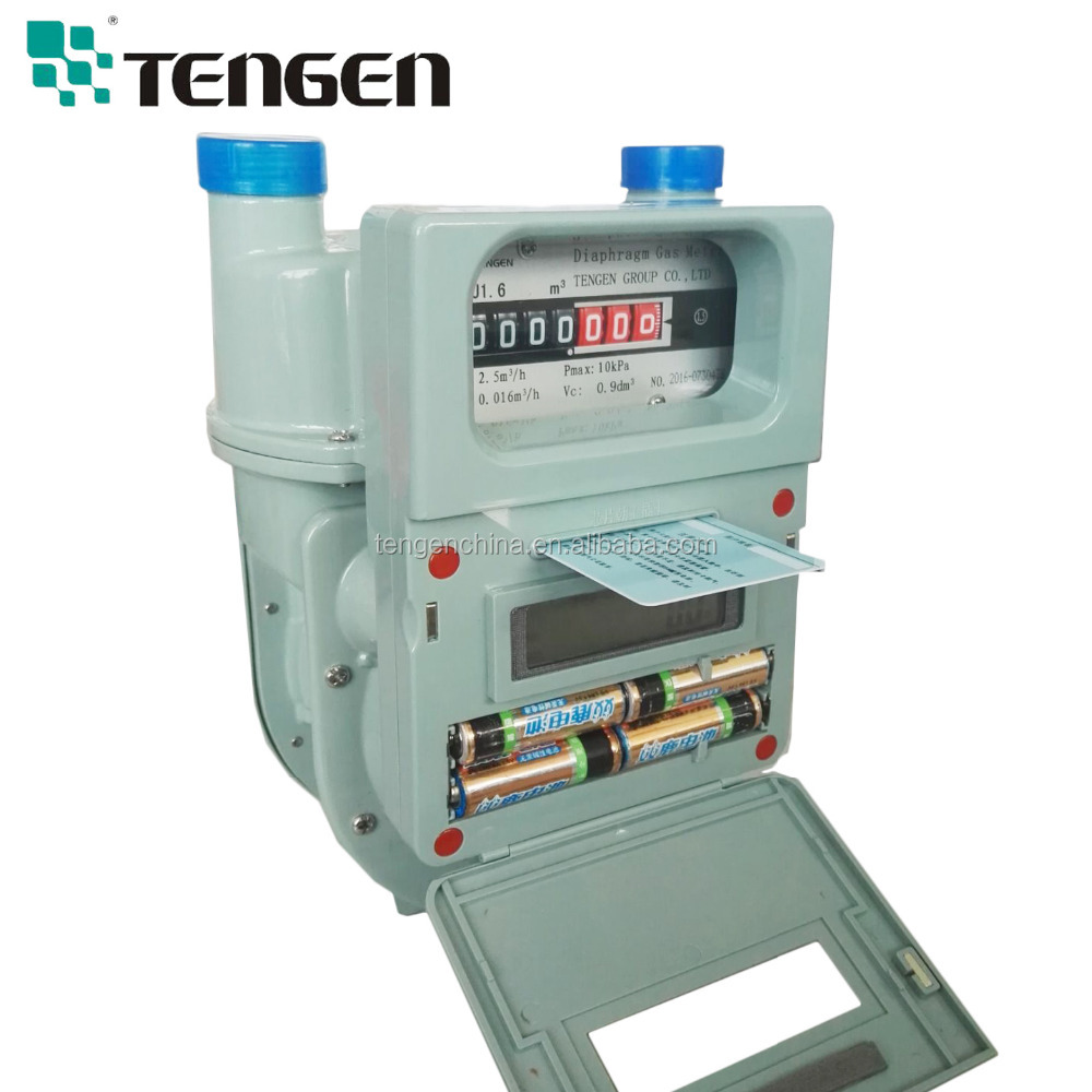 IC card prepaid LPG gas flow meter G1.6 G2.5 Diaphragm gas meter