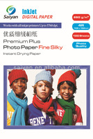 china factory supply 4R photo paper 260g RC Fine silky paper waterproof photo paper