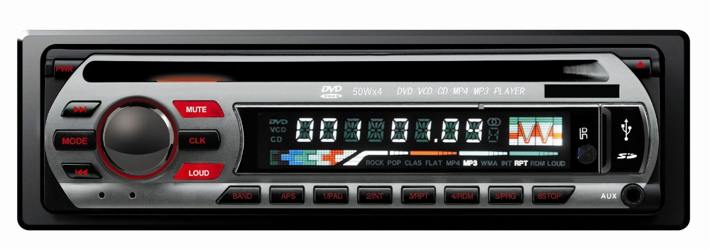 KSD-5239 single DIN car dvd cd mp3 mp4 player fm/am receiver