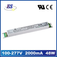 48W 2000mA 24V AC-DC Constant Current 0-10V Dimming LED Driver with CUL CUL CE