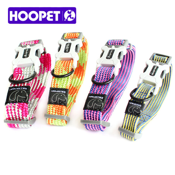 Pet Wholesale Nylon Woven Colorful Dog Collar Personalized