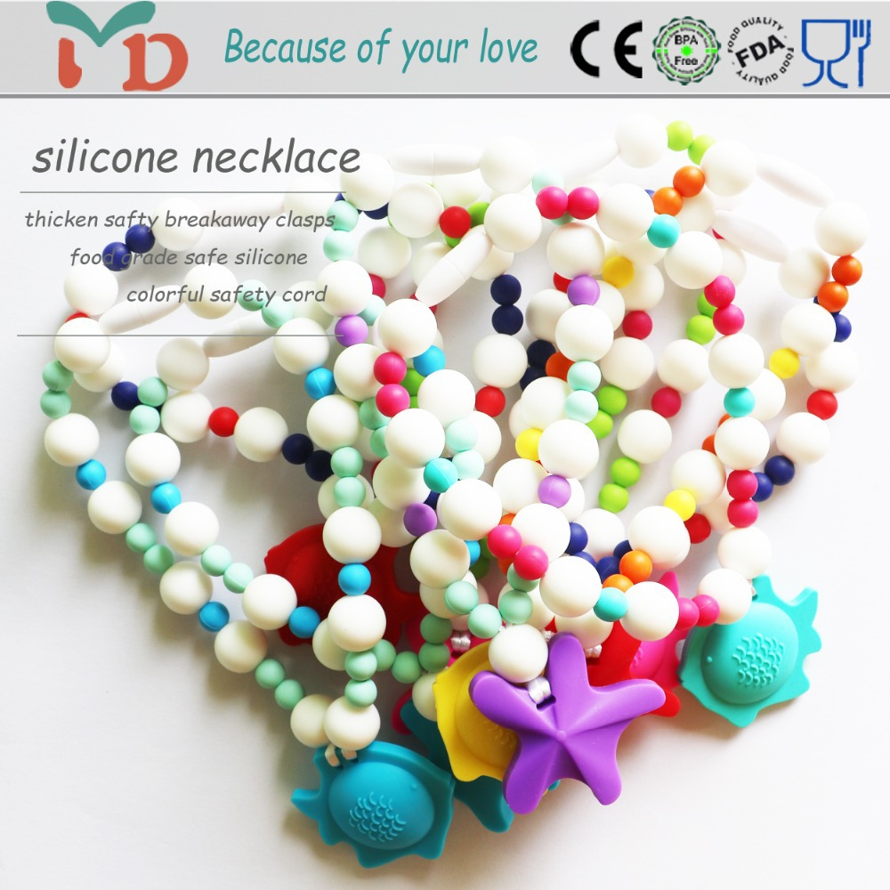 Silicone Teething Necklace - Love Bug Necklace baby silicone teething necklace fashion jewelry