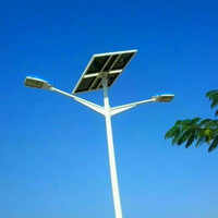 HBGL high power 50w 12v dc led solar street lights with pole 8m