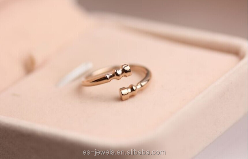 Rose gold stainless steel ring
