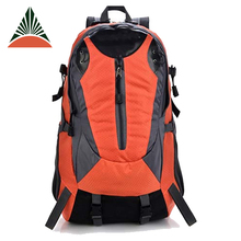 Big Capacity Orange Outdoor Sport Travel Camping Hiking Backpack With Laptop Compartment