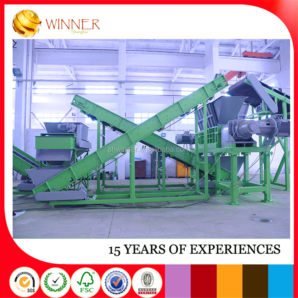 Waste Tire Block Cutting Machine For Making 25mm Mulch
