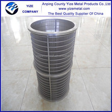 alibaba china manufacturer Continuous Slot Wedge Wire screen for drilling equipment