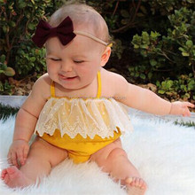 Babywear high quality good quality newborn clothes cotton lace Rompers