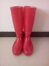factory pvc rain boots pink colors for women with in the rain
