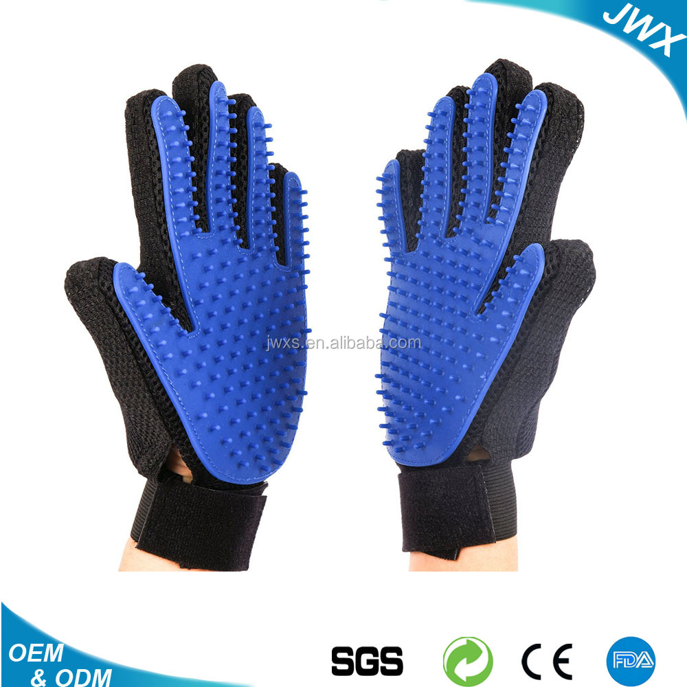 Silicon Pet Hair Grooming Glove Durable Dog and Cat Gromming Glove Deshedding Pet Hair Removed Brush