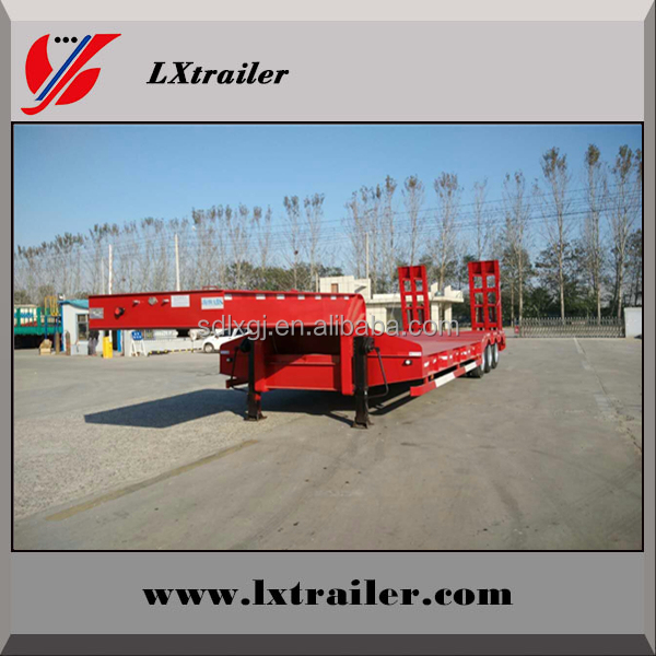 Brand new tri axle 30 tons lowbed truck trailers / low loader semi-trailer / lowboy trailer for excavator