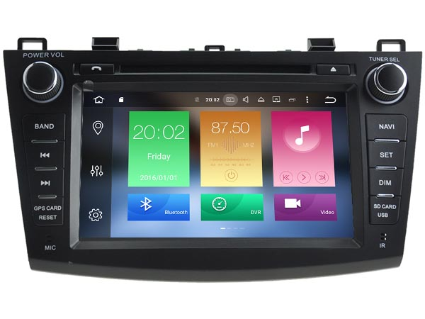8'' Double 2 DIN Car DVD Player Auto Radio GPS Navigation For Mazda 3 2010-2013 Video CANbus