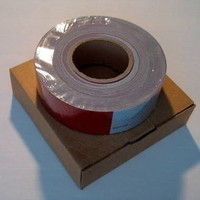 reflective conspicuity tape for trailers, FMVSS 108 conform reflective tape, HI-INT-180018