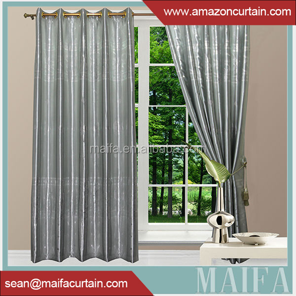 2016 newest curtain design100% polyester sheer raw silk fabric for curtains