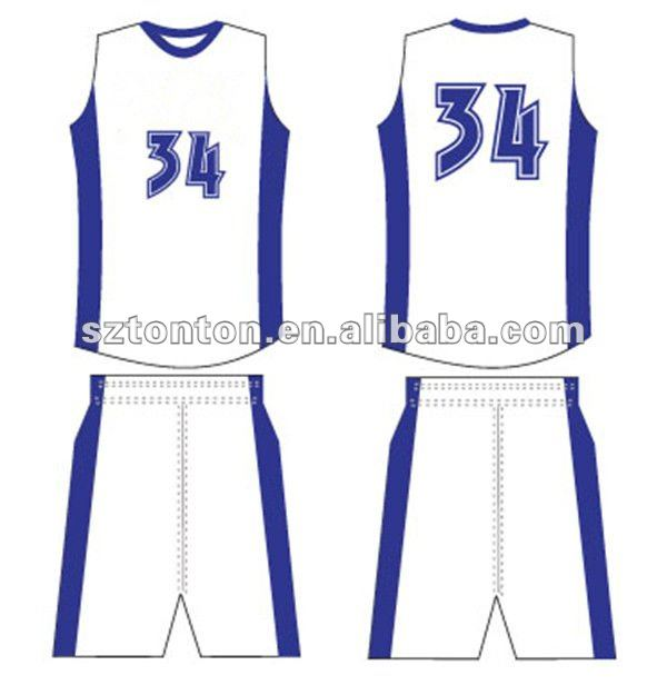 sample basketball jersey
