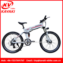Kavaki New Model Hanma 26'' Folding Two Wheel Electric Bike Bicycle 36V Battery Mountain Bicycle