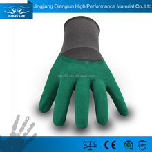 13G polyester crinkle latex palm coated working glove