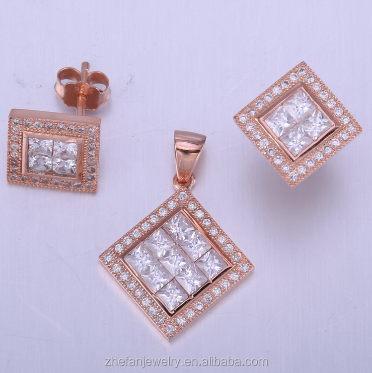 Wholesale Made in China 925 sterling silver rings jewelry set jewellery necklace wedding accesories 24k gold dubai jewelry set