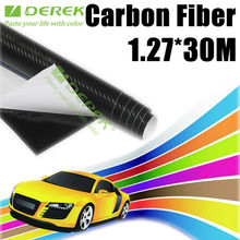 China Derek 3D carbon fiber film in black without air free bubbles Size 1.27*30m