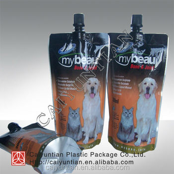 Pet Food Packaging Stand Up Pouch,high quality package bag for pet food