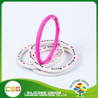 Novelty design silicone various colors fashionable heat waterproof wristband
