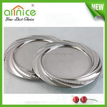 stainless steel food dish/turkish hot sale serving tray/05mm leaf shape fruit plate