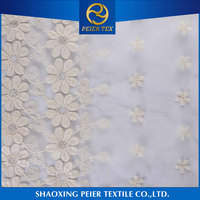 Fabric supplier voile embroidery fabric, water soluble non woven sheet for embroidery, embroidery dress fabric