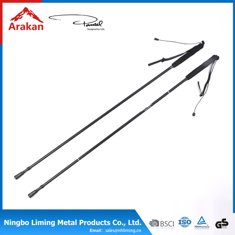 Best price tungsten carbide steel 4section soft EVA 196g rubber foot foldable walking stick