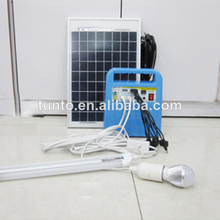 Factory direct 2014 home 10W portable solar kit with mp3 and radio