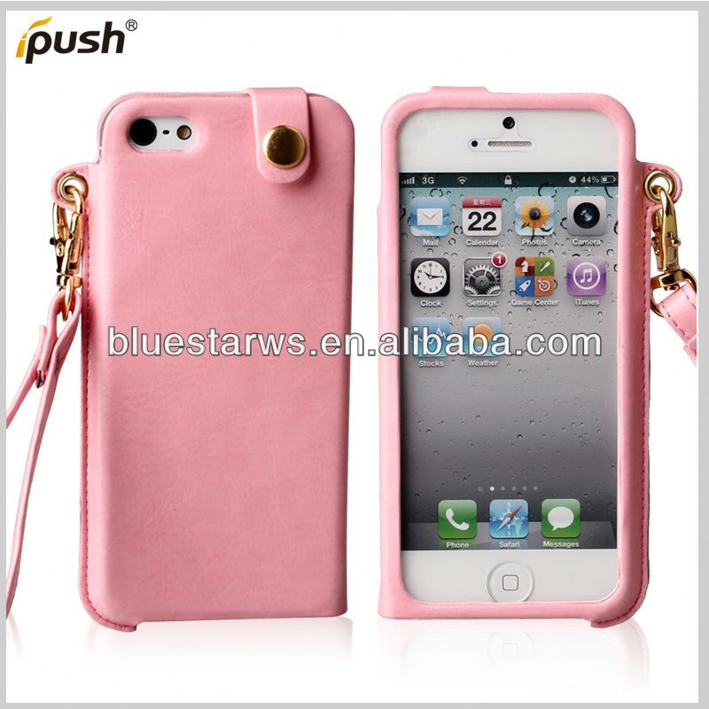 Hot Sale! Luxury PU Leather For Iphone5 hot selling item