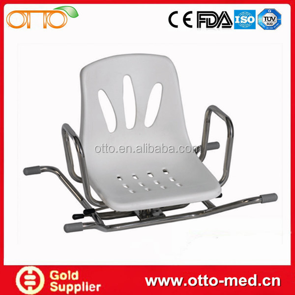 Stainless Steel Rotating bath Chair swivel shower chair